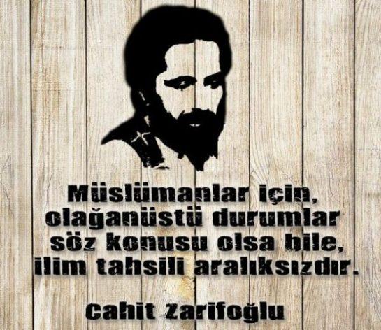 Cahit Zarifoğlu'ndan Güzel Sözler