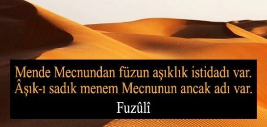fuzuli FUZULİ'DEN OSMANLICA ŞİİR