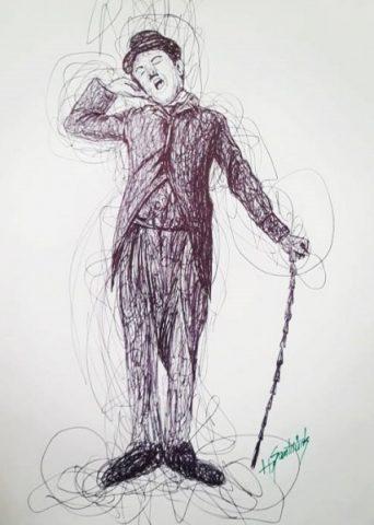 Karakalem Resim Çalışmaları -Hakan Şanlıtürk
