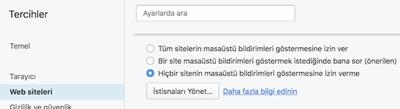 Opera Web Site Bildirimleri Nasıl Kapatılır?